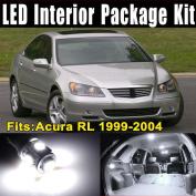 Etbotu 9Pcs White LED Lights (7xT10-5-5050 + 2x31MMx12-3528) Interior Package Kit for Acura RL