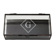 Cathy's Concepts Personalised Rectangle Glass Shadow Box, Letter G