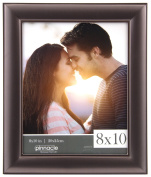 Pinnacle Frames and Accents 14FM1634 Pinnacle Titanium Rounded Profile Metal Tabletop Picture Frame, 20cm x 25cm