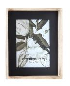 Creative Co-Op Wood Framed Photo Frame with Black Inside Edge, 13cm x 18cm