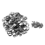UTRO 100 Pcs Picture Hanger D Ring Picture Frame Hanging Hangers Single Hole with Screws