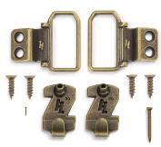 HangZ 11031 Flat Mount 2-Hole D-Ring Picture Hanger Kit, 14kg