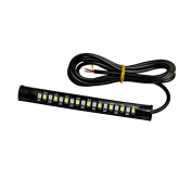 erthome 1x Universal Flexible 18 LED Motorcycle ATV Tail Brake Stop Turn Signal Strip Light Yellow and white light