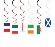 6 Nations Rugby Hanging Swirl Decoration