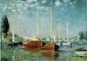 Claude Monet Argenteuil 1875 Impressionist Oil On Canvas Landscape Painting Art Print Poster 30x46 cm