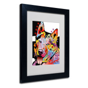 Trademark Fine Art Siberian Husky Matted Artwork by Dean Russo with Black Frame, 28cm by 36cm