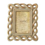 Grasslands Road Sandscape Die Cut Twist Photo Frame, 10cm by 15cm , Reactive Glaze, Ceramic, Gift Boxed