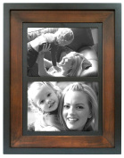 MCS 2-Tone 25cm by 33cm Wood Wall Frame with Two 13cm by 18cm Mat Openings