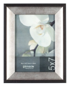 Pinnacle Black and Pewter Tabletop Frame, 13cm by 18cm
