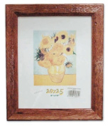 Wooden frame Antique Walnut 18X24 Picture with slab Glass Posters