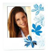 Zep Erika Photo Frame, Wood, White/Blue, 15 x 20 cm