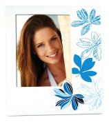Zep Erika Photo Frame, Wood, Blue/White, 13 x 18 cm