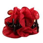 ZHOUBA Womens Girls Fashion Rose Flower Large Hair Claw Clip Clamp Barrette Accessories Gift