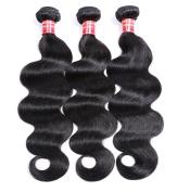 Brazilian Hair 3 Bundles, Exbe Grade 8A Brazilian Body Wave Remy Hair 3pcs Set Body Wave 100 Unprocessed Human Bundles