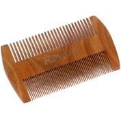Rovtop Anti-Static Wooden Comb Comb Hair Beard Comb Care and Hair Care Sandalwood with a Yellow Plastic Comb