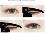 Eyeliners Stamp, ADESHOP 2 Wing Stamps Easy to Makeup Vamp Stamp Cat Eye Wing Eyeliner Stamp Tool