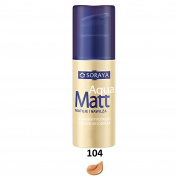 SORAYA Aqua Matt Velvety Foundation Silky Blur Complex Moisturises 30ml 104 TANNED