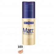 SORAYA Aqua Matt Velvety Foundation Silky Blur Complex Moisturises 30ml 103 WARM BEIGE