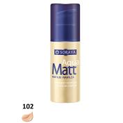 SORAYA Aqua Matt Velvety Foundation Silky Blur Complex Moisturises 30ml 102 NATURAL
