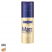 SORAYA Aqua Matt Velvety Foundation Silky Blur Complex Moisturises 30ml 101 LIGHT BEIGE