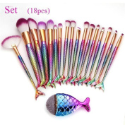 Fish Scale Makeup Brush Fishtail Set Clearance ,Makeup Brush Set Beauty Tools Sold Separately . ,Challen Fish Scale Makeup Brush Face Powder Foundation Cosmetic Brush Make Up Foundation Eyebrow Eyeliner Brush, Professional Cosmetic Makeup Brush ..