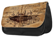 Hiros®Harry Potter Marauder Map themed Pencil Case-make up case,back to school gift,Gift for child,Travel Wash Bag,Cosmetics Pouch Organiser Toiletry Purse Pencil Case Wallet.Christmas Gift case.