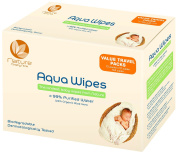 Aqua Wipes Baby Wipes (12 x 12 Wipe Travel Packs (144 Wipes)), AQW12F, Vegan, Biodegradable, _99% Purified Water, NHS APPROVED