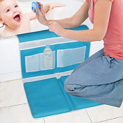 Safety Bath Kneeler - Baby Bath Kneeler Pad and Elbow Rest Detachable Bathtub Comfort Folded - Baby Mat Bath Child - Suction Cups, Non-Slip Rubber, Mesh Bag, Easy Clean, Gift for Mom