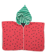 Fussenegger Hooded Poncho Cape L Melon L Blanket L 2-4 years L Green/Red