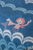 Fussenegger Juwel Baby Blanket 70 L Mermaid with Embroidery L Flannel L 90 L blue