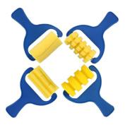 Momongel 4Pcs Sponge Paint Roller DIY Kids Art Painting Tool Toy Preschool Children