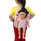 Baby Carrier Backpack Dolls accessories Storage Bag For Doll Clothes and accessories- Fits 15 To 46cm Dolls