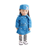 LHWY 3PC Set Dolls accessories Clothes Work Nurse Uniform Hats and Socks Tiny For 46cm American Girl Doll
