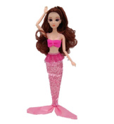 Mermaid Princess Doll Pack for Little Girl's Toy / Doll Dress,D