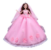 Cute Big Wedding Dress Dolls Chinese Style Girl Toy Goddess People Doll-C