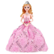 Beautiful Wedding Dress Doll Simulation Princess Girls Toy People Dolls-E