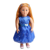 squarex DIY Doll Clothes Dress for 46cm Doll Baby Kids Gifts Dress Party Clothes New