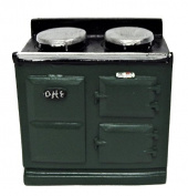 Melody Jane Dolls House 2 Oven Green Aga Stove 1:12 Miniature Kitchen Furniture