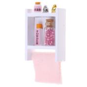 Baoblaze Dollhouse Miniature Wall Mount Shelf with Bottles 1:12 Scale Furniture Model
