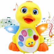 Baby Toys . up Lovely Dancing Yellow Duck Early EQ Education ,Music and Learning ,Walking ,Singing,Flashing LED Lights, New Gifts Toys for Toddlers Boys & Girls