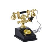 BARGAIN HOUSE Retro Telephone Doll House Miniature Retro Phone Vintage Telephone Doll Toy For Dollhouse Decoration