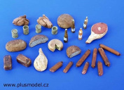 Plus Model 1:35 Meal Set Resin Diorama Accessory #075