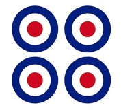 Set of 4 Remote Control (RC8) Red Blue White RAF Roundels 10cm RC Aeroplane Sticker Decal