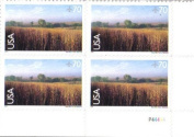 2001 NINE-MILE PRAIRIE #C136 Airmail Plate Block of 4 x 70 cents US Postage Stamps