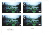 2007 Okefenokee Swamp Airmail #C142a Plate Block 4 x 69 cents US Postage Stamps