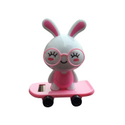 Quartly Solar Dancing Toy- Animal Solar Powered Dancing Solar Powered Dancing Dolls Swinging Animated Bobble Dancer Toy Car Decor