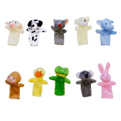DIYJewelryDepot Animal Finger Puppets Plush Educational Learning Toy Kids School Miniature Animals Pack