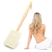 loofah sponge, back brush Natural sponge loofah Luffa sponge with back strap Bath brush Shank detachable brush Bath brush Washing bath Sponge brush
