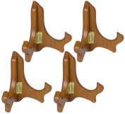 Wood Easels Folding Display Plate Stand Premium Quality Walnut - 10cm - Set of 4 Pieces