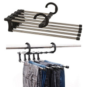 Bazaar Stainless Steel Multifunction Retractable Trousers Hanger Jeans Holder